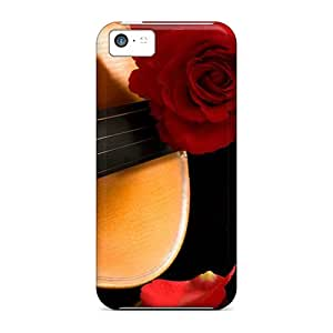 New DbA11306ywij Rose On Violin Skin Case Cover Shatterproof Case For Iphone 5c