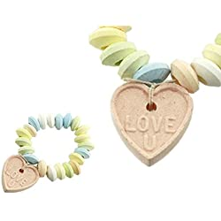 Love Beads Candy Bracelets with Heart Pendants - 28 Individually Wrapped