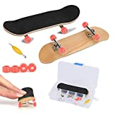 Fingerboard Finger Skateboards, Professional Mini Alloy Complete Wooden Maple Deck with Box Reduce Pressure Kids Gifts (Red)