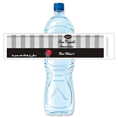Amazon.com: Retirement Water Bottle Labels, Personalized