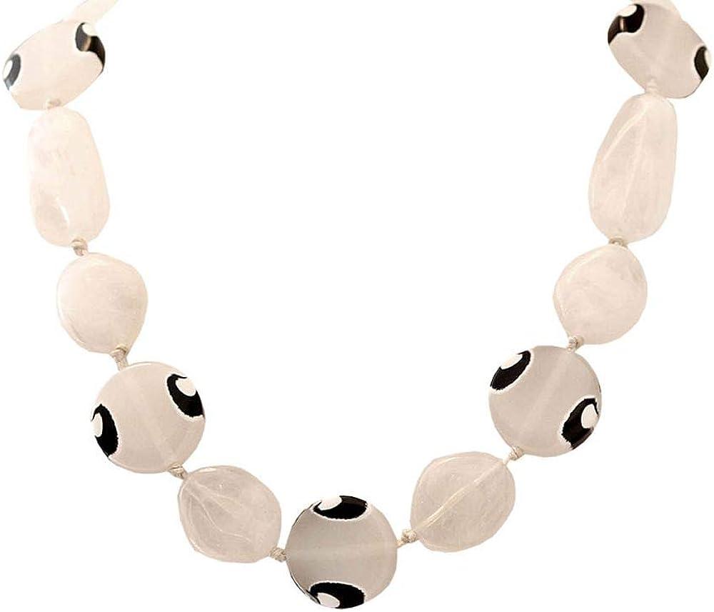 tumundo Cadena Collar Joyería De Moda Mujer Chica Acrílico Enlace Colgante Vintage Perlas Colorido Negro