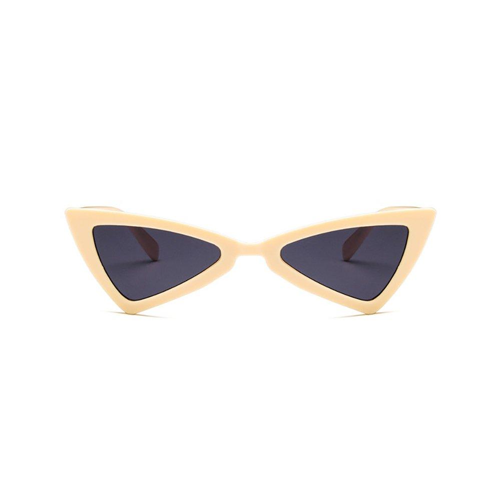dd9693e47d0ced Rétro Cat Eye lunettes de soleil pour les femmes élégant irrégulière  triangle forme légère cadre UV400  Amazon.fr  Vêtements et accessoires