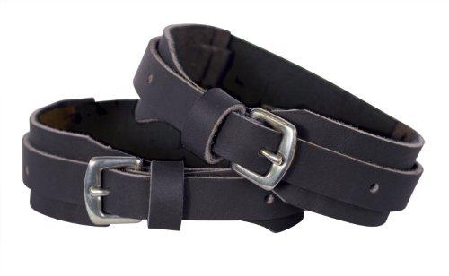 Perri's Velcro Garter Straps, Black, Large