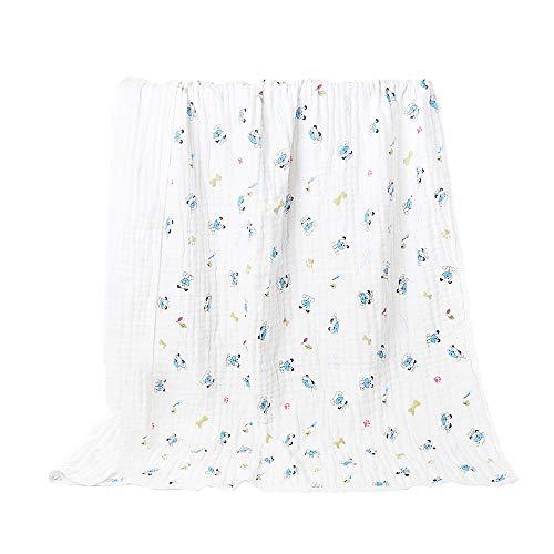 Babyhood 100% Cotton Natural Absorbent Muslin 6 Layer Warm Baby Blanket, Super Soft Gauze Bath Towel 4259 Inches (Dog)