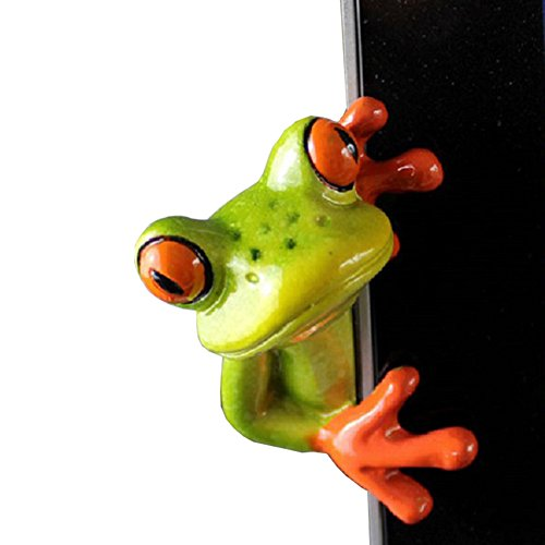 Secaden Resin Creative 3D Craft Frog Decoration Office Desk Computer Decoration Gift (Side Style) -