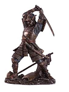 amazon com samurai warrior in battle japanese statue figurine home