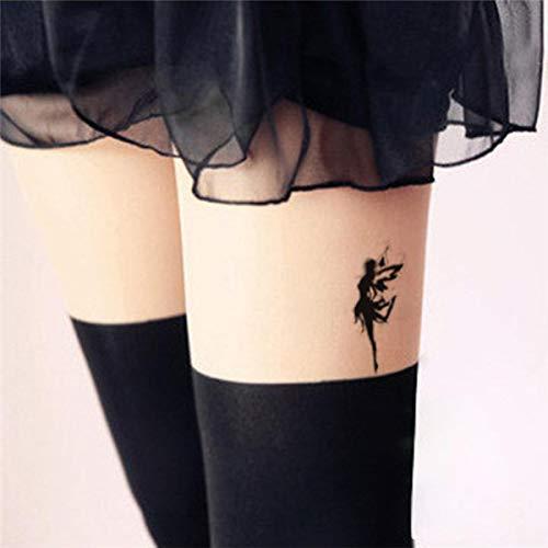 (Generic HC1051 Waterproof Fake Tattoo Women Leg Chest Sexy Temporary Sticker Fluttering Angel Fairy Girl Design Scar Cover Fast Tattoo)