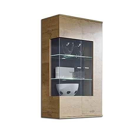 Vetrina moderna in rovere grezzo parete attrezzata pensile soggiorno ...