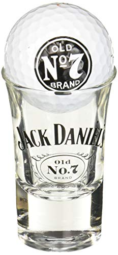 Jack Daniels Licensed Barware 8514 Swing Cartouche Shot glass, 1.5 oz, clear/white ()