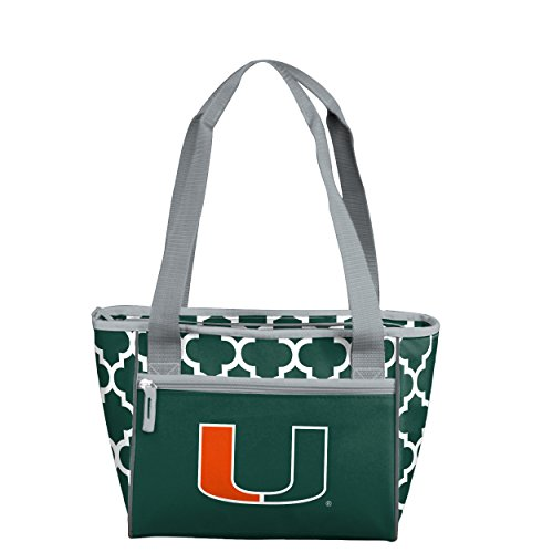 Logo Brands NCAA Miami Hurricanes 16 Cooler Can Tote, Hunter, One Size ()