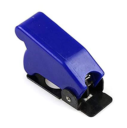 Auto Car Boat Truck Illuminated Led Toggle Switch with Safety Aircraft Flip Up Cover Guard Blue 12V20A SS Ants-Store