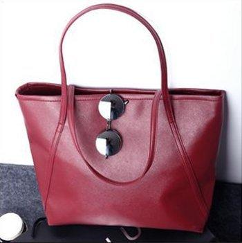 C.X.Z Simple Style Women Shoulder Handbag Big Bag Shopper Tote Pouch Pursre (Vintage Shopper)