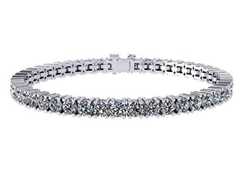 (NANA Silver Swarovski CZ Tennis Bracelet- 7