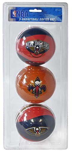 NBA New Orleans Hornets Kids Softee Basketball (Set of 3), Small, Blue