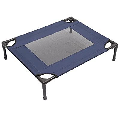 PawHut Elevated Pet Bed Dog Cat Cot Cooling Home House Pets Cozy Beds Camping Comfortable Blue and Black