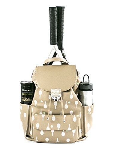 Court Couture Hampton Printed Cafe Au Lait Tennis Backpack