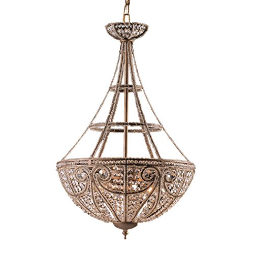 - Alumbrada Collection Elizabethan 4 Light Chandelier In Dark Bronze