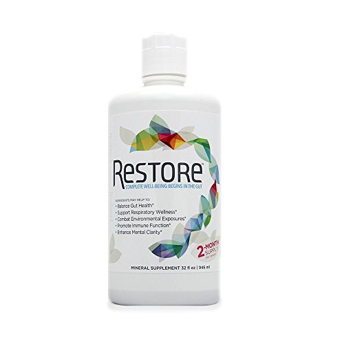 Restore For Gut Health   Restore 4 Life Terrahydrite Humic Substances   Mineral Amino Acid Complexes For Digestive Wellness  Immune Function  Environmental Factors  Mental Clarity    32 Ounces