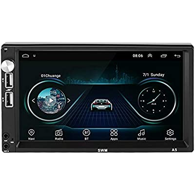 Garsent Car Stereos  Inch 2Din WIFI Car Radio Bluetooth MP5 MP3 Player 1 16G Car Multimedia Player Support Android System  USB  Bluetooth 4 0  GPS Navigation  Reversing Camera for iOS  Android