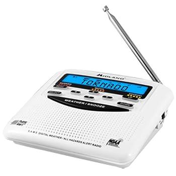 Midland Wr120bwr120ez Noaa Weather Alert All Hazard Public Alert Certified Radio With Same, Trilingual Display & Alarm Clock - Box Packaging 1