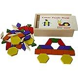 Toys of Wood Oxford en bois blocs de motifs et bois 60pièces de puzzle Tangram Puzzles