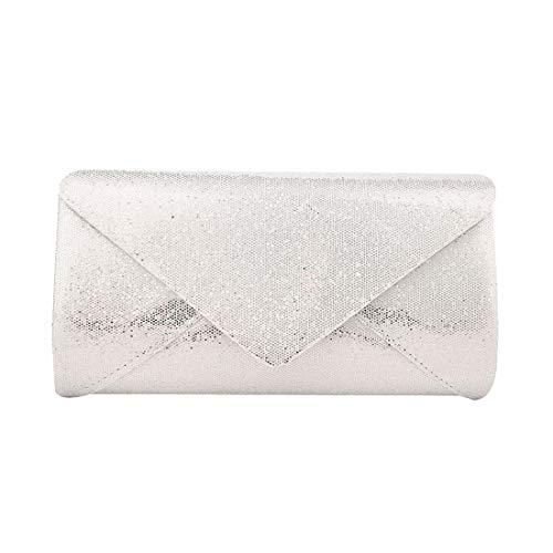 Black Envelope Glitter for Haute Bag Ladies Silver Clutch Diva a40qqzwx