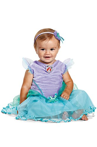 Disney Baby Girls' Ariel Infant Costume, Turquoise, 6 to 12 Months -