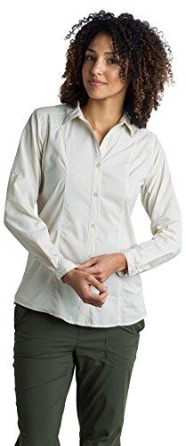 ExOfficio Women's BugsAway Brisa Relaxed Fit Long-Sleeve Shirt, Light Stone, X-Large