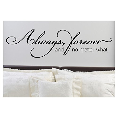 Always, Forever, and No Matter What Vinyl Lettering Wall Decal Sticker (12