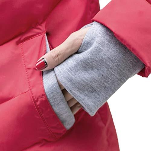 Tops Collo Caldo Paragrafo Mantieni Splicing Breve Alto Yefree Colore E Femminile Inverno Cappotto Abbigliamento Guanti Rosso Autunno Nuovo Slim Vestibilità zxZzawYqOP