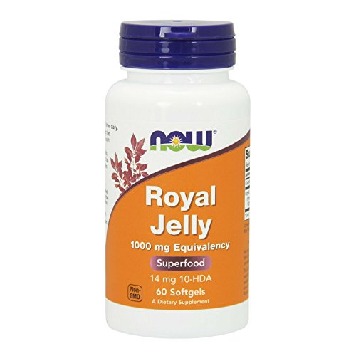 NOW Royal Jelly 1000 mg,60 Softgels (Royal Jelly Fertility)