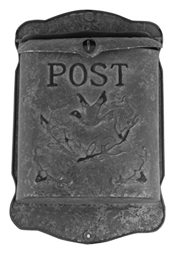 Rustic Country Letter Mailbox - Rustic Galvanized Metal Post MailBox - Country Style