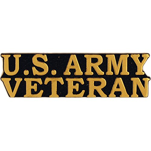 US Army Bold Faced Veteran Pin Military Collectibles for Men Women (Army Small Hat Pin)