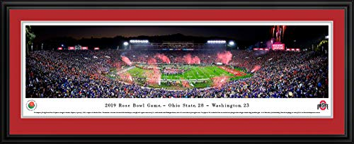 - 2019 Rose Bowl Champions - Ohio State - Double Mat, Deluxe Framed Print by Blakeway Panoramas