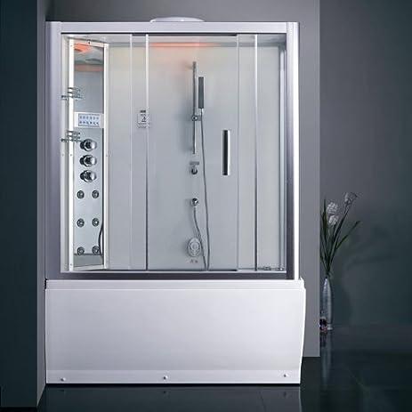 Ariel Platinum Series DA328 1F3 L Steam Shower With Whirlpool Bathtub