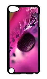 Ipod 5 Case,MOKSHOP Cool pink flower macro Hard Case Protective Shell Cell Phone Cover For Ipod 5 - PC Black