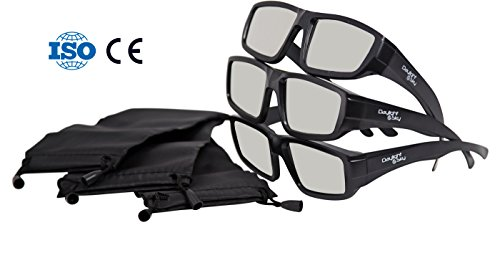 Plastic Solar Eclipse Glasses  W Carry Case   Adult Size   Cool Style And Look   Ce And Iso Tested   Safe Solar Viewing   3 Pack  3 Glasses And 3 Cases