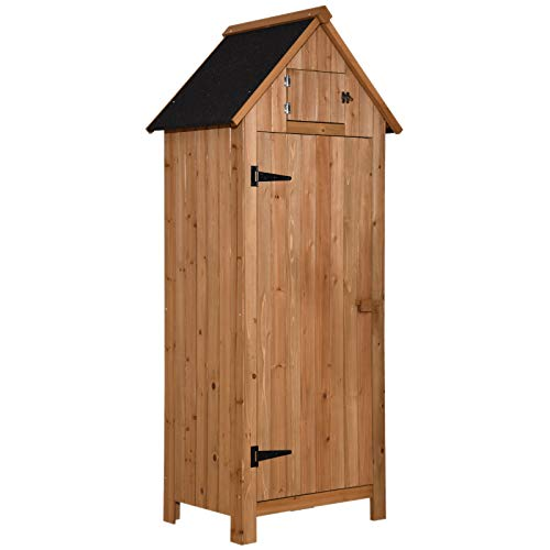 (MCombo Wooden Garden Shed Tool Shed Organizer Wooden Lockers with Fir Wood (70