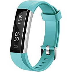 Lintelek Activity Tracker, Slim Fitness Tracker Watch, Touch Screen Bluetooth Pedometer Smart Bracelet with Anti-lost Strap for Android Phone or iPhone