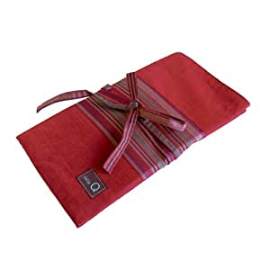 della Q Knitting Case 20-Pockets for Interchangeable Knitting Needles; 004 Red Stripes 185-1-004