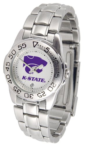 NCAA Kansas State Wildcats Ladies Gameday Sport Watch with Stainless Steel Band