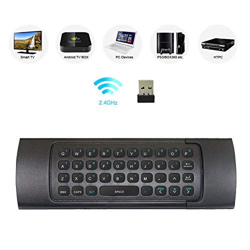 Rii MX3 Multifunction 2.4G Air Mouse Mini Wireless Keyboard & Infrared Remote Control & 3-Gyro + 3-Gsensor for Google Android TV/Box, IPTV, HTPC, Windows, MAC OS, PS3