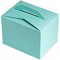 BalsaCircle 100 Turquoise Wedding Favors Tote Boxes with Handles for Wedding Party Birthday Gifts Decorations Supplies Wholesale