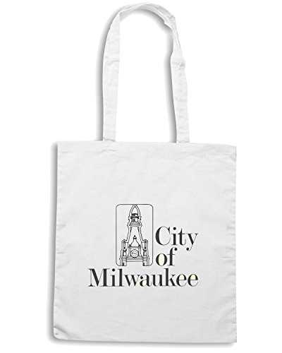 T-Shirtshock - Borsa Shopping TM0048 City of Milwaukee citta Bianco