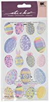 Sticko Multiple color Easter Eggs Stickers