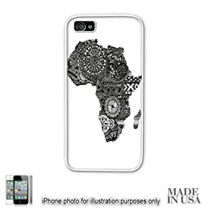 Africa African Flag Art Map Design Print by L Kayon iPhone 5 5S Case - WHITE RUBBER Unique Design Gifts