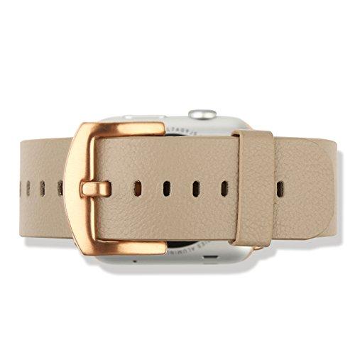 Baseus Premium Genuine Leather Band for Apple Watch Sport 42mm (Beige)