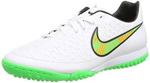 Nike Men's Magista Onda TF White/Psn Green/Blk/Ttl Orng Soccer Cleat 10 Men US