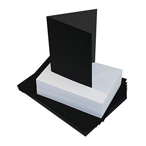 Craft UK 385 413 Card & Envelopes, Carton, Noir, 13 mm