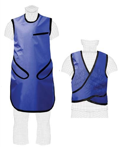 Quick Ship Lightweight Lead X-Ray Apron, Flex-Guard, 0.5mm Pb, Hook & Loop Closure, Large, Sapphire